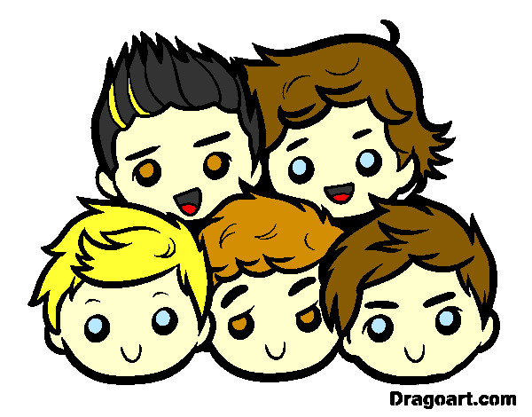 Coloriage One Direction 2 colorié par flore