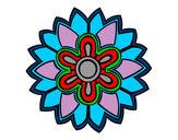 Coloriage Fleurs en forme de mandala Weiss colorié par Clairvie9