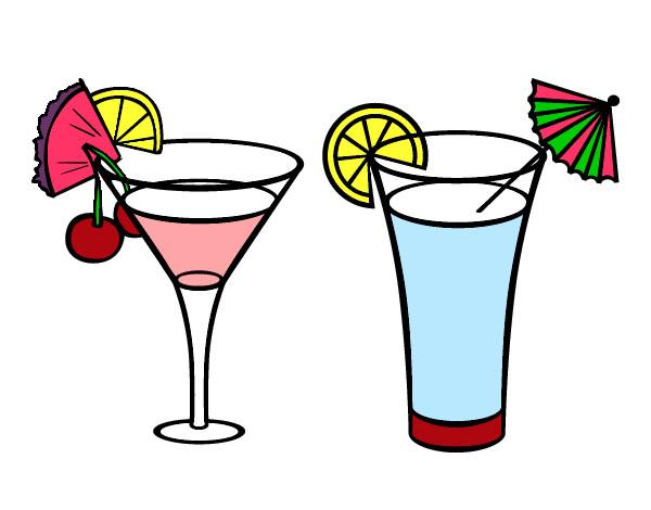 Dessin de deux cocktails colorie par mar42 le 12 de f vrier de 2013 - Dessin cocktail ...