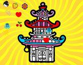 Coloriage Pagode chinoise colorié par Camille_H