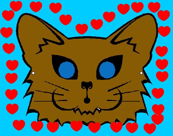 Dessin de un chat tout mignon colorie par rosalia le 06 de avril de 2013 - Chat tout mignon ...