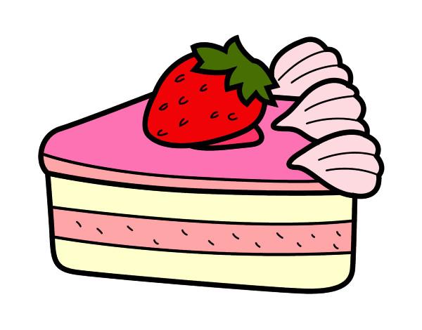 dessin de gâteau aux fraises colorie par enerol le 06 de avril de