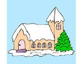 Coloriage Maison colorié par kioulol11