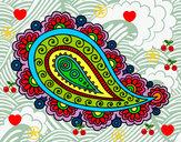 Coloriage Mandala larme colorié par ophelie