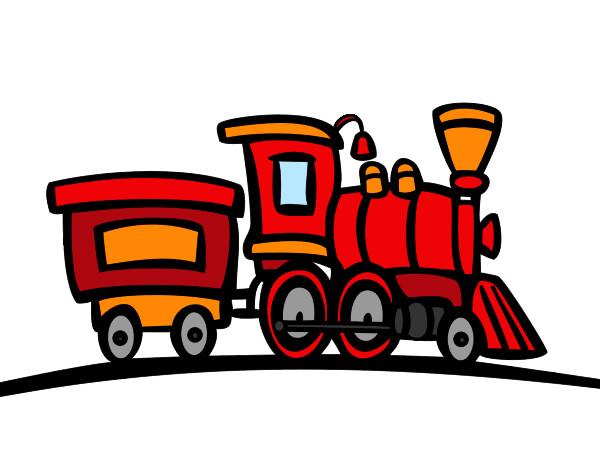 Dessin de train avec wagon colorie par bbodsy le 29 de - Locomotive dessin ...