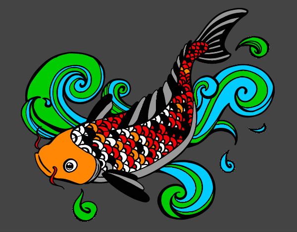 Dessin de carpe ko colorie par alala le 29 de juin de for Achat carpe koi en ligne