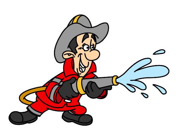 Dessin de pompier en action colorie par celine le 08 de septembre de 2014 - Pompier dessin ...