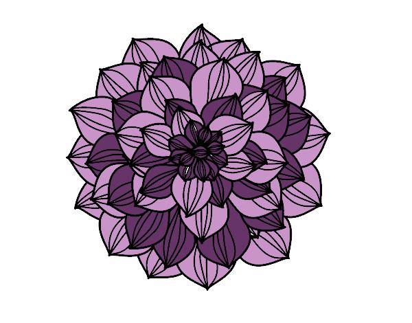 dessin de dahlia colorie par lilymelody le 16 de octobre de 2014 à