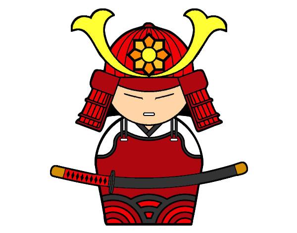 Dessin De Samouraï Chinois Colorie Par Samv Le 14 De Octobre