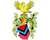 Coloriage Blason et aigle  colorié par ophelie