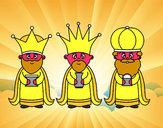Coloriage Les 3 rois mages colorié par anais2008