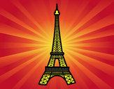 Coloriage Tour Eiffel colorié par anais2008