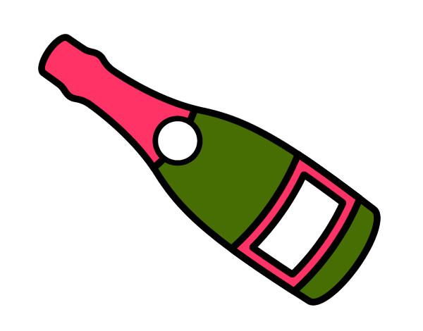 Dessin A Imprimer Bouteille De Vin dessin de bouteille de vin de champagne colorie par daniel51 le 17