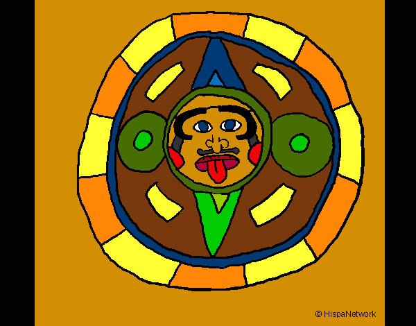 Calendrier Maya Dessin.Dessin De Calendrier Maya Colorie Par Kake Le 01 De Avril De