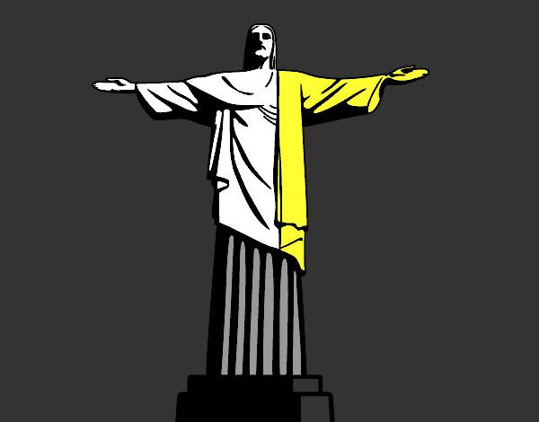 Dessin Christ Redempteur dessin de le christ rédempteur colorie par kake le 03 de avril de