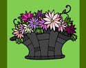 Coloriage Panier de fleurs 7 colorié par KAKE