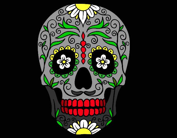 Dessin De Fête Des Morts Au Mexique Colorie Par Kake Le 08