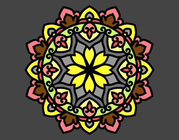 Coloriage Mandala celtique colorié par KAKE