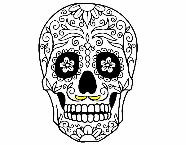 Dessin De Fête Des Morts Au Mexique Colorie Par Membre Non