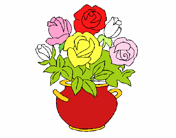 dessin de vase de fleurs colorie par membre non inscrit le 19 de avril de 2015. Black Bedroom Furniture Sets. Home Design Ideas