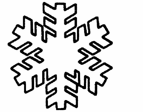 Dessin de flocon de neige colorie par membre non inscrit le 22 de avril de 2015 - Dessin etoile des neiges ...