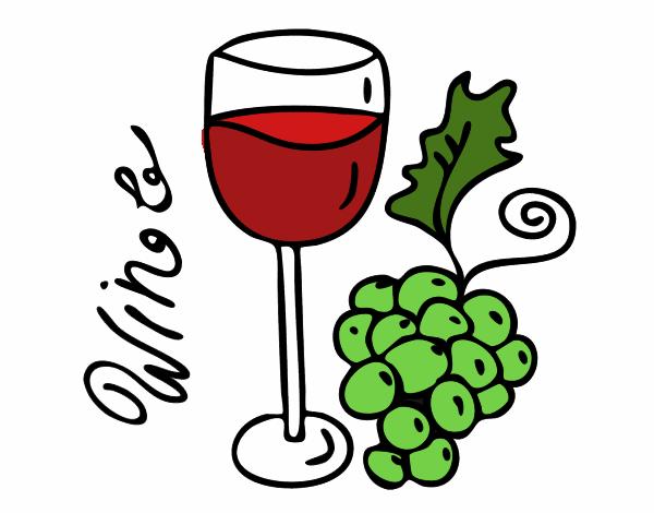Dessin de vin rouge colorie par membre non inscrit le 22 - Verre de vin dessin ...