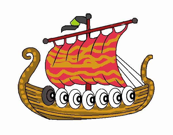 Dessin de bateau vikings colorie par membre non inscrit le - Dessin de viking ...