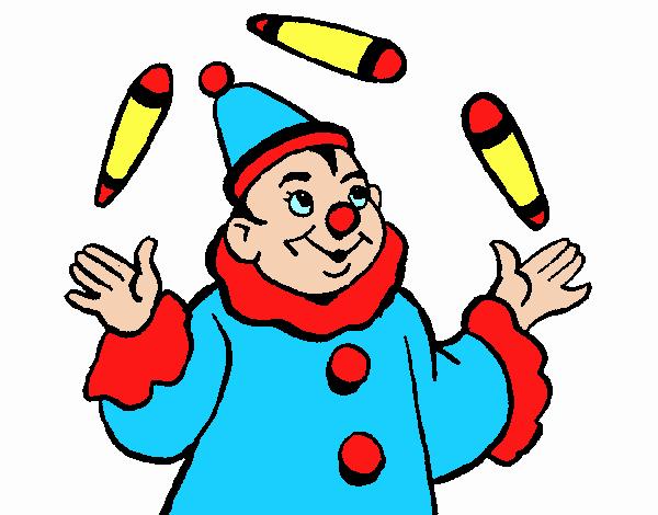 Dessin de jongleur colorie par membre non inscrit le 27 de - Image jongleur cirque ...