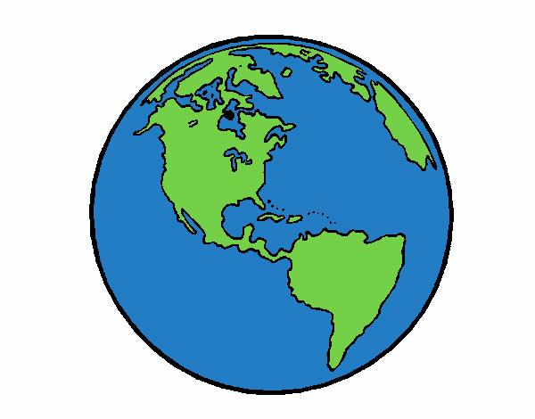 Dessin De Planète Terre Colorie Par Membre Non Inscrit Le 29 De Avril De 2015 à Coloritou.com