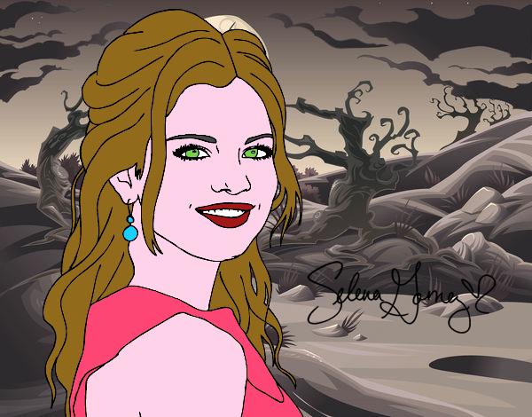 Dessin de selena gomez avec les cheveux boucl s colorie - Selena gomez dessin ...