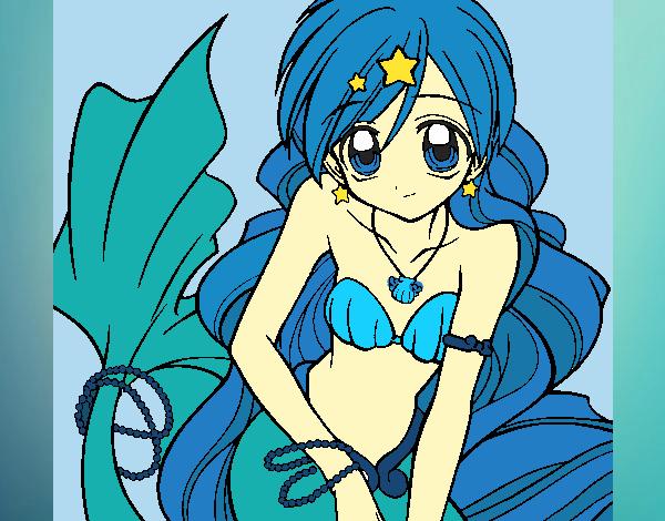 Dessin de hanon hosho pichi pichi pitch mermaid melody colorie par membre non inscrit le 22 de - Dessin de pichi pichi pitch ...