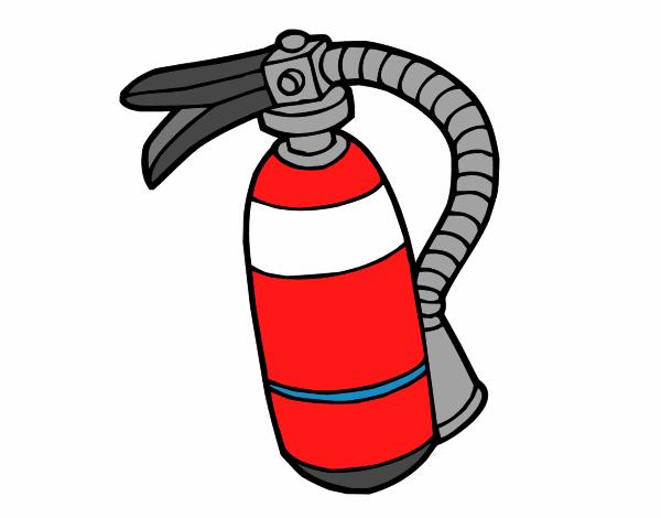 Dessin de un extincteur colorie par membre non inscrit le - Dessin pompier facile ...