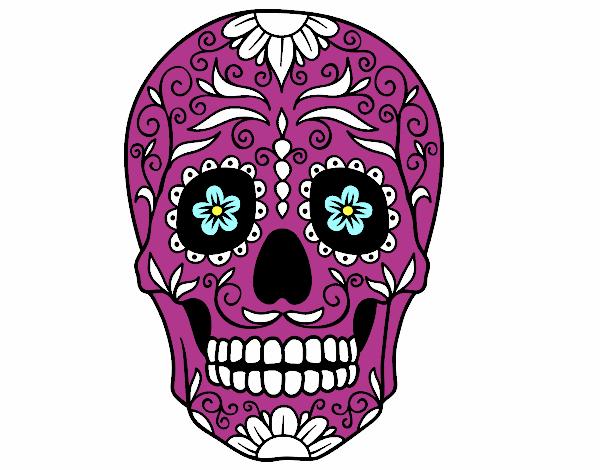 Dessin De Fête Des Morts Au Mexique Colorie Par Leclercq Le