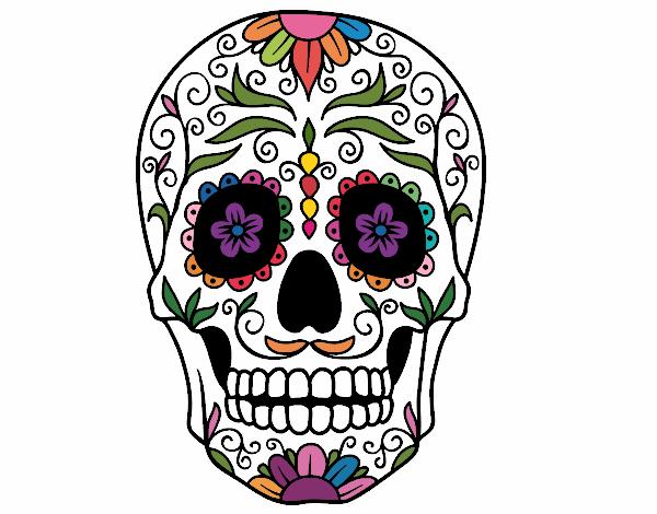 Dessin De Fête Des Morts Au Mexique Colorie Par Lisa52 Le 19