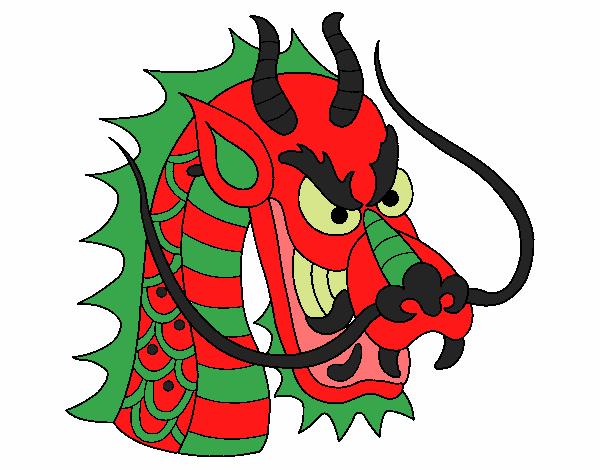 Dessin de t te de dragon colorie par pierrot le 15 de juin de 2015 - Dessin de tete de dragon ...