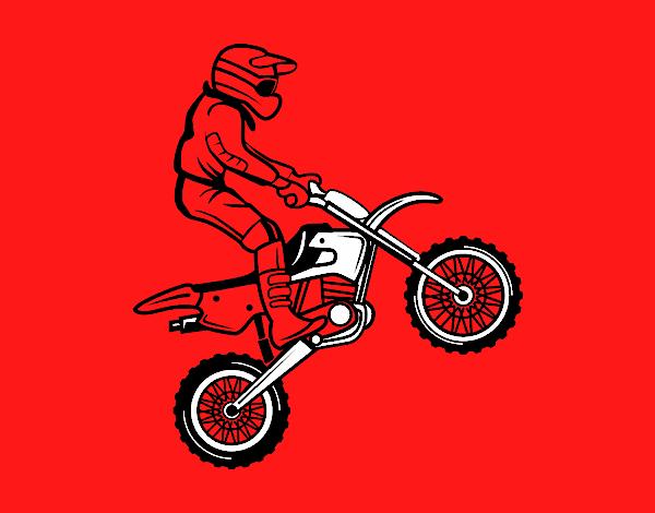 Dessin de moto le trial colorie par membre non inscrit le - Dessin moto trial ...