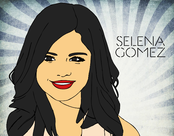Dessin de selena gomez sourire colorie par membre non - Selena gomez dessin ...