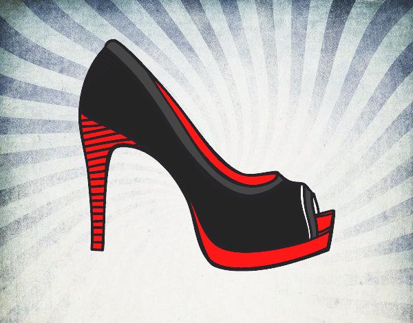 dessin de chaussure de plate forme colorie par membre non inscrit le 30 de juin de 2015. Black Bedroom Furniture Sets. Home Design Ideas