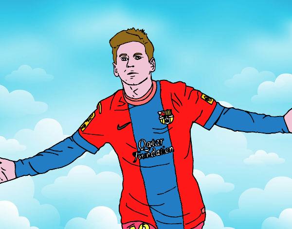 Coloriages de joueurs de football pour colorier - Coloriage lionel messi ...