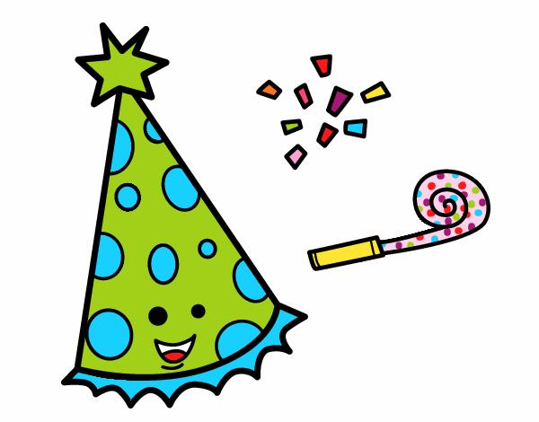 Dessin de Chapeau de fête colorie par Juliea le 18 de Août ...