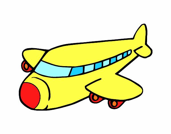Dessin de avion boeing colorie par membre non inscrit le - Dessin avion stylise ...