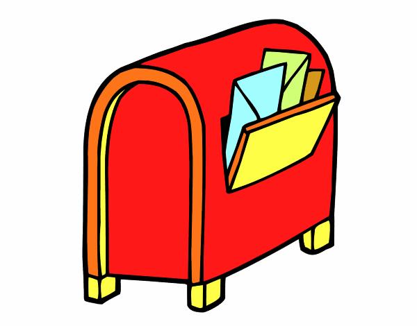 Dessin de bo te aux lettres colorie par membre non inscrit le 17 de septembre - Peindre boite aux lettres ...