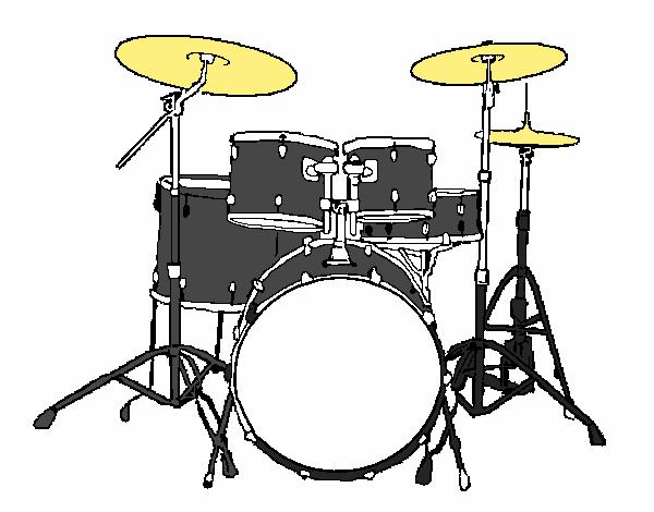 dessin de batterie de percussions colorie par membre non inscrit le 24 de septembre de 2015. Black Bedroom Furniture Sets. Home Design Ideas
