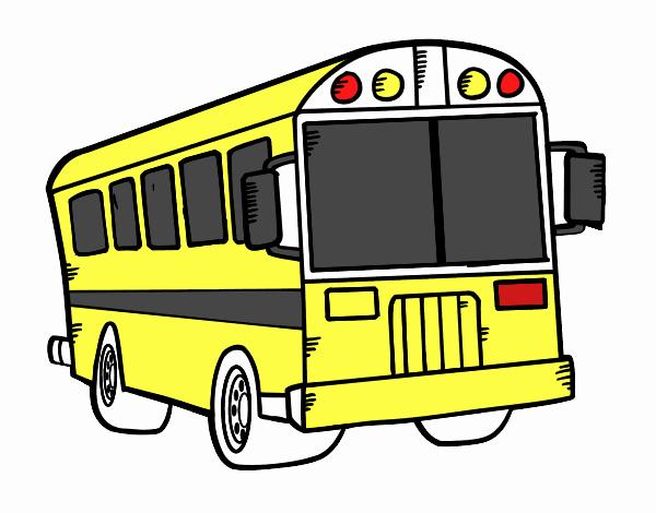 Dessin de autobus scolaire colorie par membre non inscrit - Autobus scolaire dessin ...