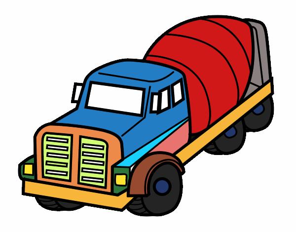 dessin de camion malaxeur colorie par membre non inscrit le 15 de octobre de 2015. Black Bedroom Furniture Sets. Home Design Ideas