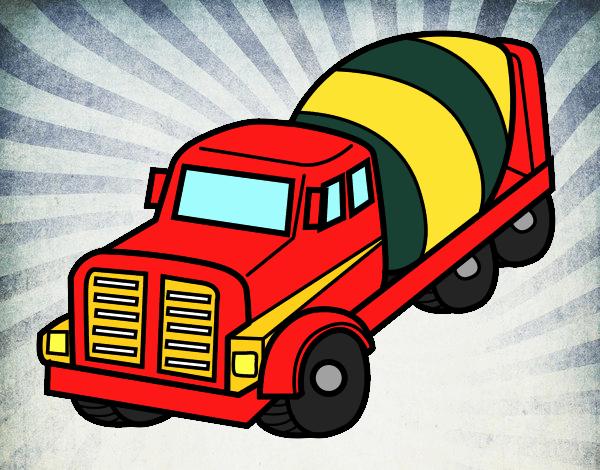 dessin de camion malaxeur colorie par membre non inscrit le 25 de octobre de 2015. Black Bedroom Furniture Sets. Home Design Ideas