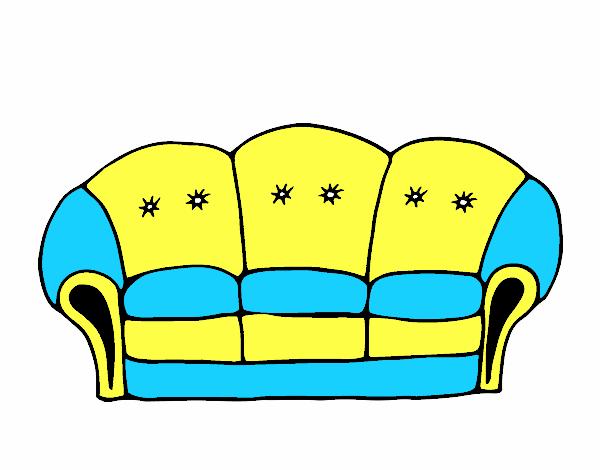 dessin de canap colorie par membre non inscrit le 23 de octobre de 2015. Black Bedroom Furniture Sets. Home Design Ideas