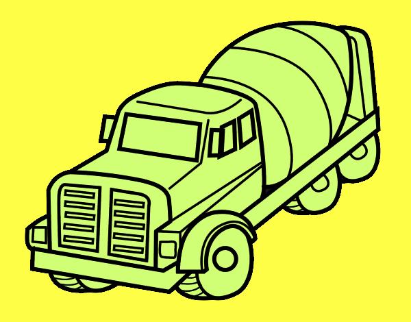 dessin de camion malaxeur colorie par membre non inscrit le 27 de octobre de 2015. Black Bedroom Furniture Sets. Home Design Ideas