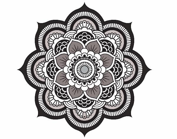 dessin de mandala fleur oriental colorie par gyna94 le 26 de octobre de 2015. Black Bedroom Furniture Sets. Home Design Ideas