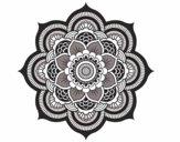 Coloriage Mandala fleur oriental colorié par Gyna94
